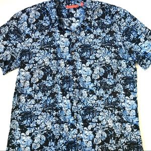 Tori Richard Floral Print Button Down Casual Shirt